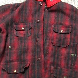 Woolrich Wool Red/Black Plaid Coat